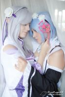 Emilia and Rem by nyarthcosplay