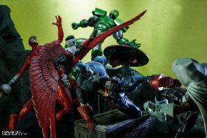Captain America and Falcon vs The Masters of Evil! by SavageSerenityStudio