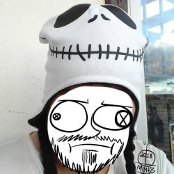 My Jack Skellington Winter Hat by TwiztidMintZArt