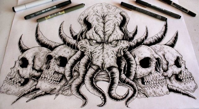 Cthulhu (our lord and saviour) by EG-TheFreak