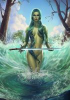 Lady of the lake by ElizabethPL