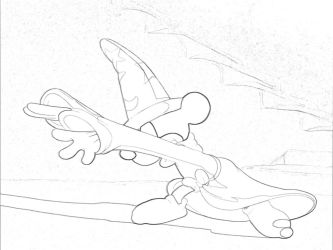 Fantasia-Mickey Coloring Page B by Richard67915