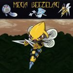 Pokemon Trifusion Mega Beezelag by fullhex