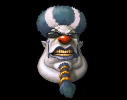 evil  clown 2 by dagamon