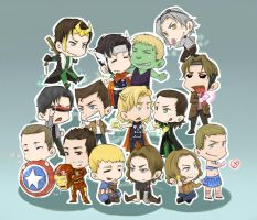 Marvel Characters by pastellZHQ