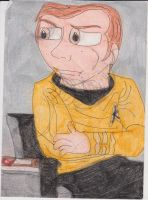 Kirk in the Captain's Chair by RozStaw57