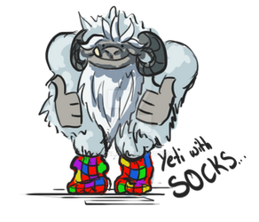 Yeti with Socks by Drytil