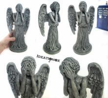 Weeping Angel Statue Sculpture by Ideationox