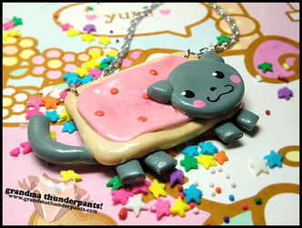 Nyan Cat Necklace by GrandmaThunderpants