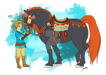 Giant Horse by Shadaty