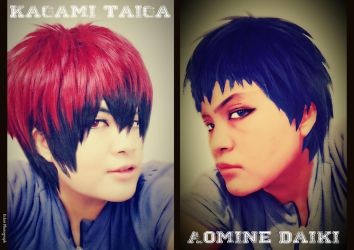 Cosplaying as Kagami and Aomine by EclairFaDa26