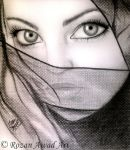 Rozan Awad Art ( The scarf  ) by RozanAwad