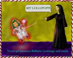 Bellatrix and the Oompa Loompa by EricaVee