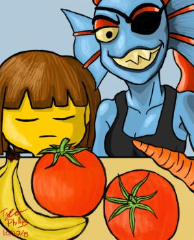 Undertale - Cooking With Undyne by ulrich5000