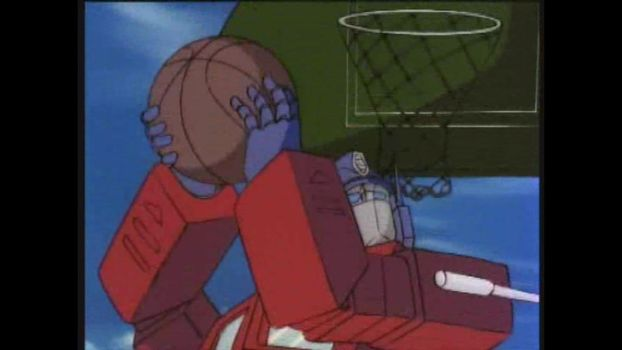 Prime Shoots Some Hoops by MechaTron04