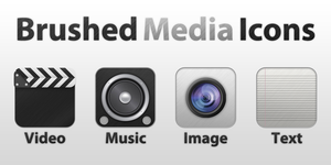 Brushed Media Icons by gorganzola1