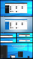 Win10 FT Black and Blue Theme  Windows10 by Cleodesktop