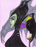 Warm Up 2-16, Maleficent by Hodges-Art