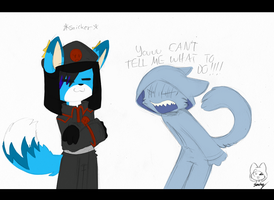 You're not the boss of me! by Void-Shark