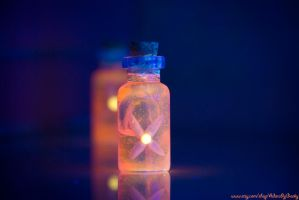 Enchanted Flame Fairy Bottles by IvrinielsArtNCosplay