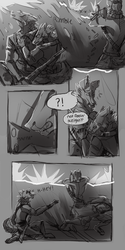 In the Heart of War pg 1 by werwoof
