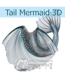 Tail Mermaid PSD by MLauviah