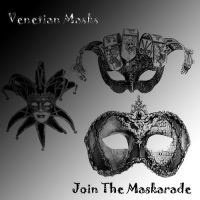 Venetian Mask Brushes by LoveInTheBedOfRazors