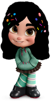 Me Without My Ponytail by WDisneyRP-Vanellope