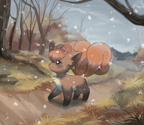 vulpix goes to the store by Psiaus