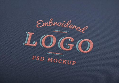 Embroidered Logo MockUp by GraphicBurger