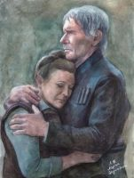 Han and Leia by AlyonaSkywalker