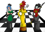 Chess Board Girls Colored by LuckyBucket46
