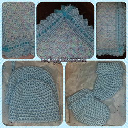 Baby Blue Crochet Set by wwGinger