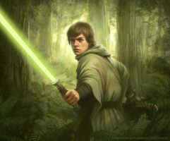 Star Wars: TCG - Endor Luke by AnthonyFoti