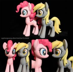 Derpy and Pinkie Pie together by AplexPony