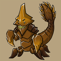 Dota Fanart v2 - Sand King by KidneyShake