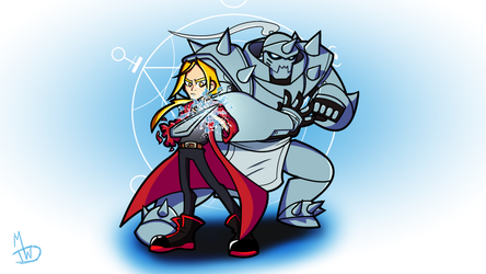 The Elric Brothers (Fullmetal Alchemist) by HeyitzMick