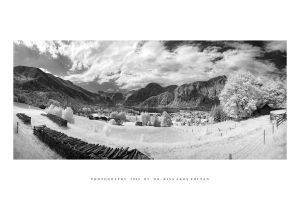 Hallstatter See in IR by DimensionSeven