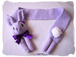 Violet Bunny Rabbit Scarf by Cateaclysmic