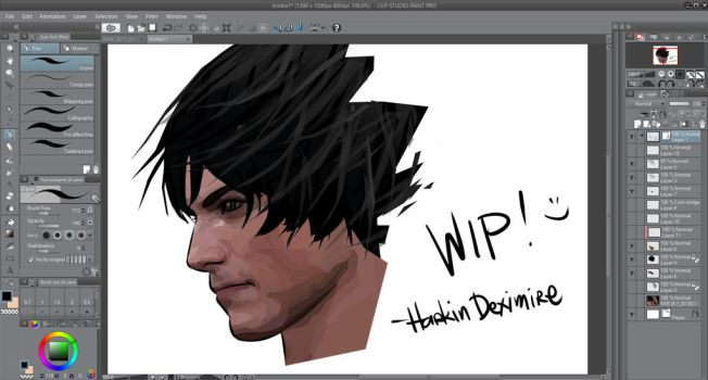 Drawing My Man (WIP) by HarkinDeximire
