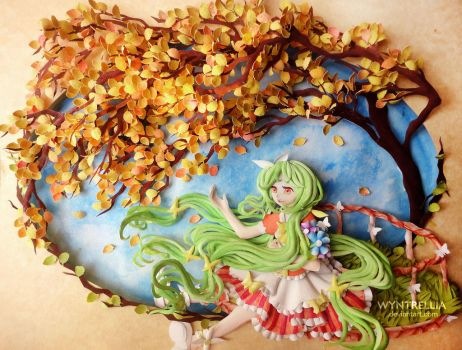 Paper Art: Sweet Little Yuka by Wyntrellia