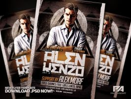 DJ Flyer PSD Template by pawlowskiart