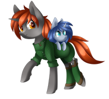 Blaze and Nova [Commission] by Scarlet-Spectrum