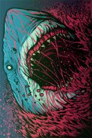 Feed her to the sharks tour banner by furanko-san