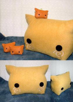 Inari Kitty Pillow by Jonisey