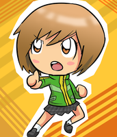 Persona 4- Chibi Chie by BladeXD