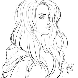 Jaina Proudmoore lineart by Mythicalpalette