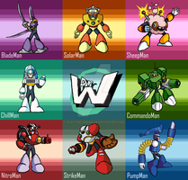 The Robotmasters of MegaMan 10 by Alex-the-Irregular
