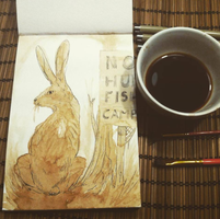 Coffee Hare by kelley-a