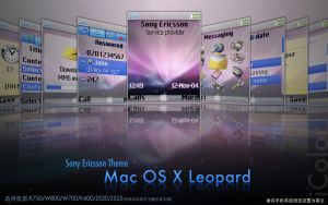 Mac OS X Leopard for SE K750 by iColor